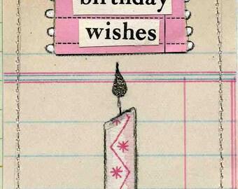 Birthday Wishes Miniature Book - Birthday Greeting Mini Birthday Card - Tiny Birthday Collage Flip Book - Party Favor Birthday Scrapbook