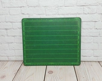 Vintage Green Lined School Chalkboard