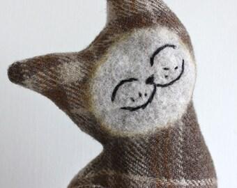 Royal Oak Cat - Wool Plush