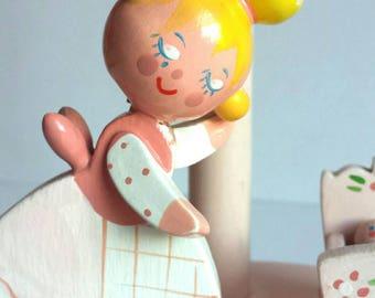 Vintage Nursery Lamp - Mama and Baby  - Vintage Irmi - Vintage Nursery - Vintage Baby Lamp - Midcentury Nursery