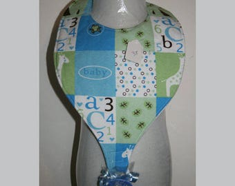 Baby Bibs, Pacifier Bibs, Bibs with Pacifier, Bibs, Pacifier, ABC
