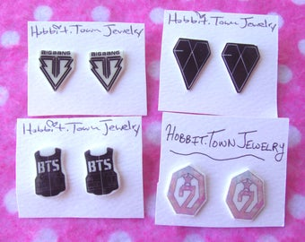 BTS BIGBANG EXO GOT7 Kpop Idol Stud Earrings