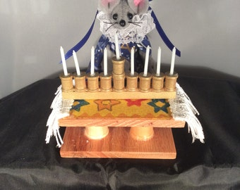 Mouse with her Menorah. LOWER PRICE