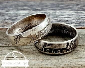 1964 Coin Ring - Silver Quarter Coin Ring - 1964 Quarter Ring - Silver Coin Ring - 1964 Jewelry - 1964 Ring- Birthday Gift- Anniversary Gift