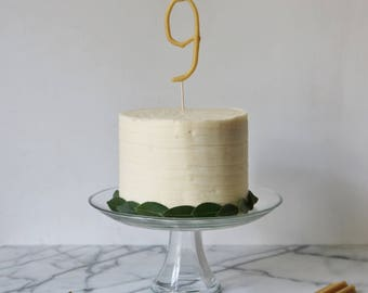 Hand dipped Beeswax Number Candle