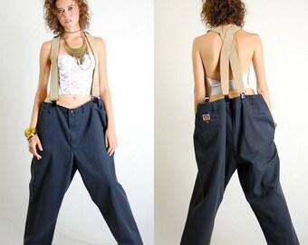 Ben Davis Jeans Vintage 90s Charcoal Gray Hip Hop Work Wear BEN DAVIS Super Slouchy Twill Skater Pants (xl xxl)