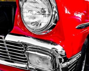 Plymouth Valiant Two-Hundred Headlight Car Photography, Automotive, Auto Dealer, Classic, Sports Car, Boys Room, Garage, Dealership Art