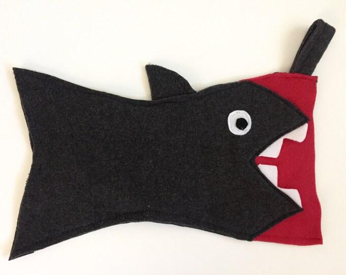 Featured listing image: Shark Stocking, Christmas Stocking