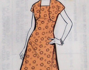 Vintage Sewing Pattern 70s 1970s Womens Dress and Bolero Suit - Sunday People Pattern No. 562 UK - US Size 10 - UK Size 12 - factory folded