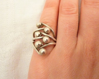 Vintage Sterling Silver Ring Size 4 1/2