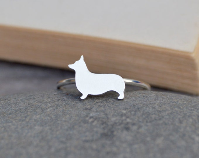Corgi Ring In Sterling Silver, Puppy Ring, Handmade In The UK