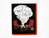 Campfire Birthday Card