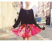 REBEL REBEL ZIGGY skater skirt.  original illustration.
