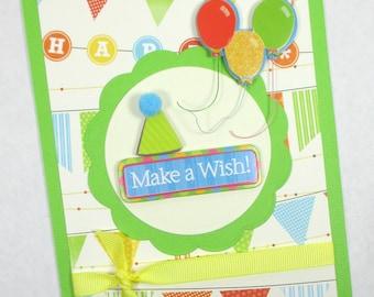 Handmade birthday cards, kids birthday, children's birthday, boys birthday, girls birthday, birthday party, handcrafted birthday cards