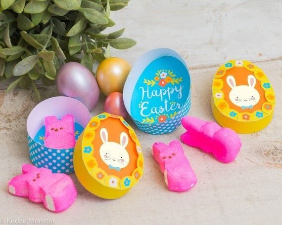 Printable Easter Egg Shaped Box