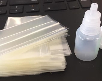 10x 5ml Empty Dropper Bottles +Shrink Wrap Tampering Seal Sleeves Band-Dripper all proceeds to Charity