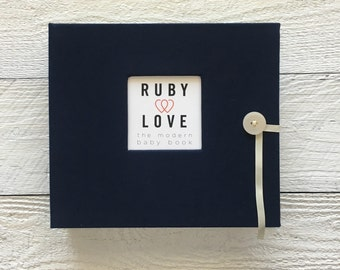 Solid Midnight Navy | BABY BOOK