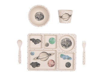 Bamboo Dinnerware - Moon and Stars - (FDA & LFGB food safe approved)