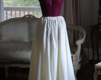 Cream under skirt petticoat victorian costume theater rococo marie antoinette peasant