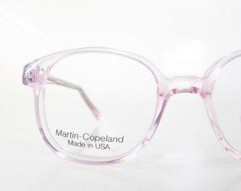 Vintage Pink Eyeglasses Martin Copeland Children's Children Eyeglass Frames Optical Deadstock Brand New Cotton Candy Pastel Clear 1980s