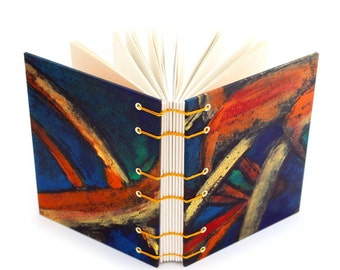 Black and Yellow Monotype Journal - handmade by Ruth Bleakley
