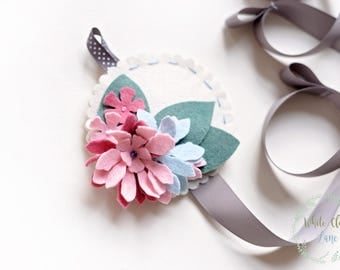Bow Holder - Flower - Girls Room Decor Nursery - Floral Hair Bow Holder