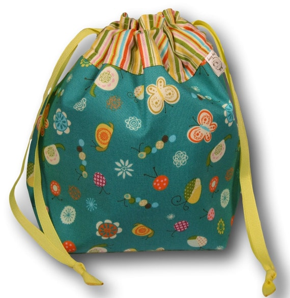 Garden Party - One Skein Project Bag for Knitting, Crochet, or Sewing
