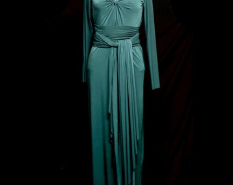 Eleanor Draped Jersey Maxi Dress - Made to Order - FREE SHIPPING WORLDWIDE