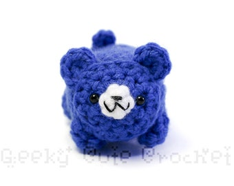 Blue Bear Yami Amigurumi Crochet Stuffed Plush Desk Toy