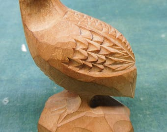 ViNTAGE WooDEN HaND-CaRVED BiRD Figure - FREE SHiPPiNG!!!