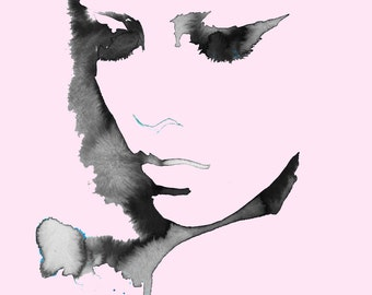 Pink & Black, print from original watercolor fashion illustration by Jessica Durrant