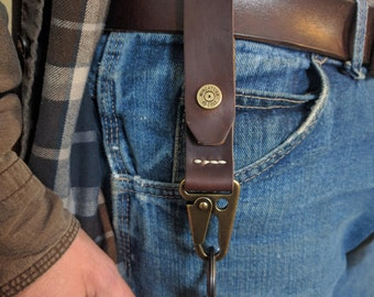 Horween Leather Key Fob with Coin Snap and Rifle Sling Snap