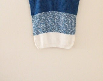 80's Color Block Knit Top