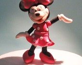 Fondant edible cake topper - Minnie Mouse birthday anniversary girl baby shower