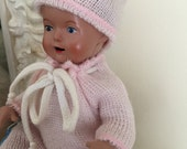 Schildkrot Baby Doll in Pink Knit Outfit..Collectible Doll....Baby Doll