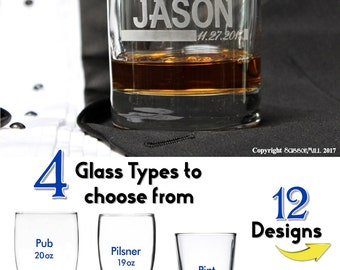 Personalized Whiskey Glasses, Groomsmen Rocks Glass, Groomsmen Gift Ideas, Personalized Whiskey Drinking Glasses, Bourbon, Bachelor