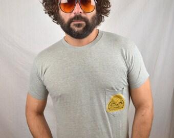 Vintage 80s Chuck E Cheese Tshirt Pocket Tee Shirt