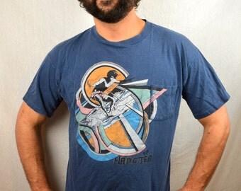 Vintage 1980s RARE Hang Ten AWESOME Pocket Tee Shirt Tshirt