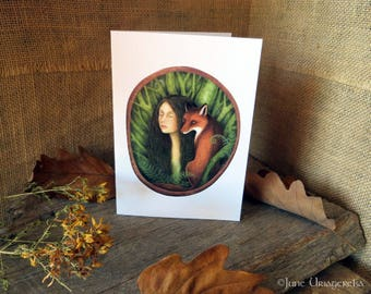 Kindred Spirits - Greeting Card with Envelope