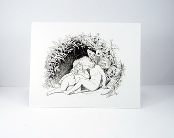Fairy note card set, Fairies, Fairy Lovers, Fairy couple, Blank Note Cards, thank you cards, All Occasion, thinking of you, boxed note cards