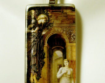 Angel of the annunciation pendant with chain - GP01-265