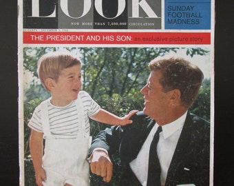 Vintage Magazine Look 1963 JFK John F Kennedy Periodical Collectible President 1960s