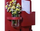 Mail Organizer - Mail Holder - Letter and Key Holder - Key Hooks - Jar Vase - Organizer