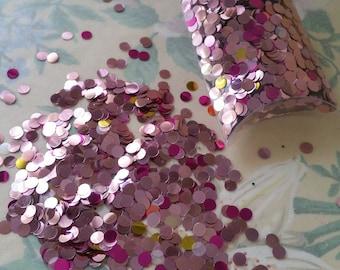 "Vintage ""Strawberry Trifle"" colored Cellulose Acetate Confetti Paillettes 35 grams"