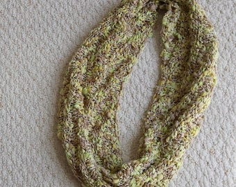 Cowl Neckwarmer, Light and Airy, Perfect for Fall and Spring, Hand Knit Infinity Scarf