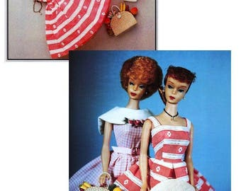 Sewing Pattern Barbie Fashion doll - Rockabilly Dress Sunday Outing 50s fashion