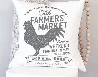Farmer's Market Pillow Cover