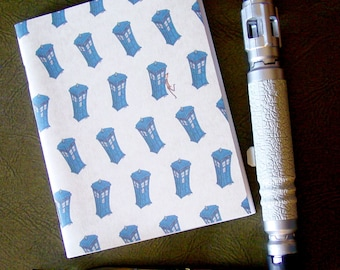 Doctor Who Pocket Notebook - TARDIS pattern with bonus Eleven