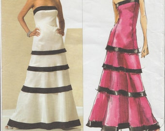 Vogue 2930 / Designer Sewing Pattern By Tom And Linda Platt / Strapless Dress Gown / Sizes 16 18 20