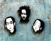 Samurai Champloo Japanese Horror Manga Graphic Novel Anime Comic Book Character Pulp Pin Button Pinback